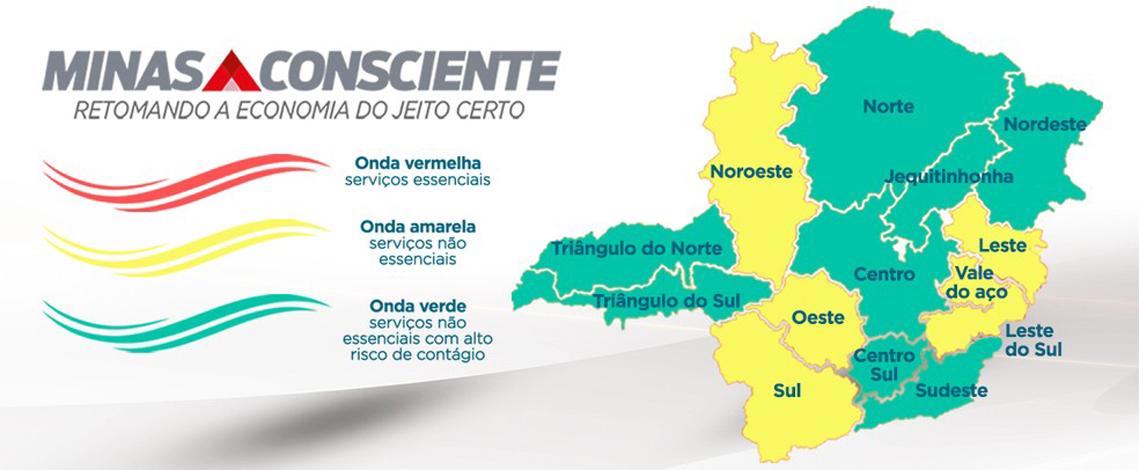 Sete Lagoas avança para Onda Verde do programa Minas Consciente