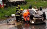 Acidente envolvendo dois veículos deixa uma pessoa gravemente ferida na MG-424 em Pedro Leopoldo