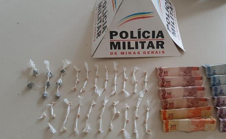 Polícia Militar prende duas pessoas por tráfico de drogas em Matozinhos