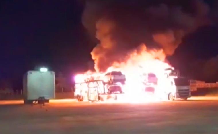 Polícia Civil prende suspeitos de incendiarem caminhões cegonheiras em Sete Lagoas e Curvelo
