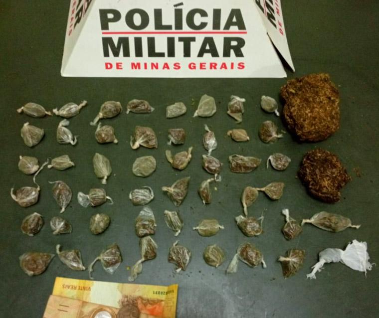 PM prende homem com mandado de prisão em Sete Lagoas e jovem por tráfico de drogas em Paraopeba