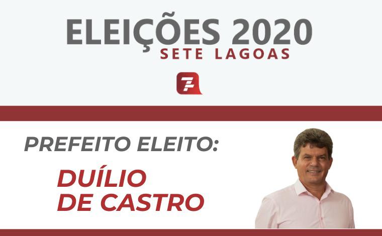 Eleições 2020: Duílio de Castro é eleito prefeito de Sete Lagoas com 54,90% dos votos