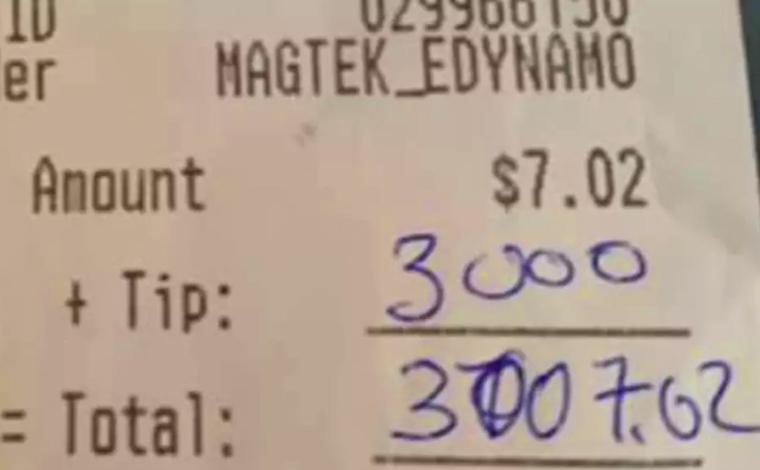 Após tomar apenas uma cerveja em restaurante, cliente deixa gorjeta de R$ 16,1 mil