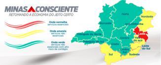 Covid-19 continua avançando em Minas Gerais e mais uma região regride e passa para a Onda Amarela