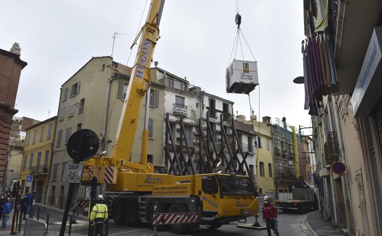 Francês de 300 kg teve que ser retirado de casa com guindaste