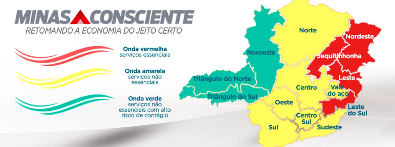 Minas Consciente: Covid-19 avança em MG e metade do estado regride para fases mais restritivas