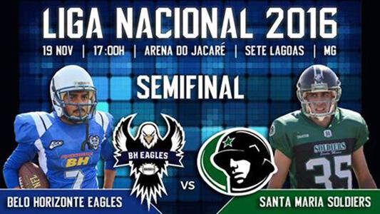 Semifinal da Liga Nacional de futebol americano será em Sete Lagoas