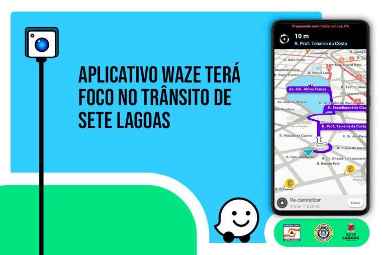 Aplicativo Waze terá foco no trânsito de Sete Lagoas a partir da próxima segunda-feira