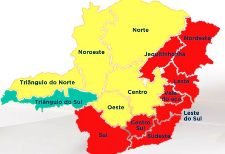 Minas Consciente: mais da metade do estado está na onda vermelha programa