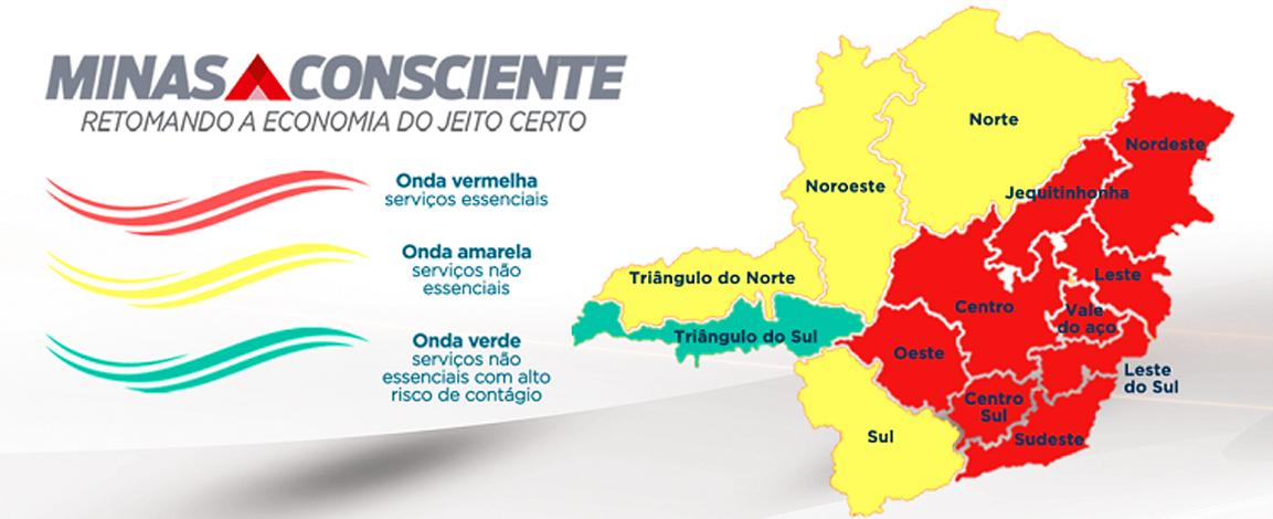 Minas Consciente: macrorregião de saúde onde Sete Lagoas está inserida, regride para onda vermelha