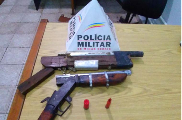 Dois homens são presos por porte ilegal de arma de fogo em Capim Branco