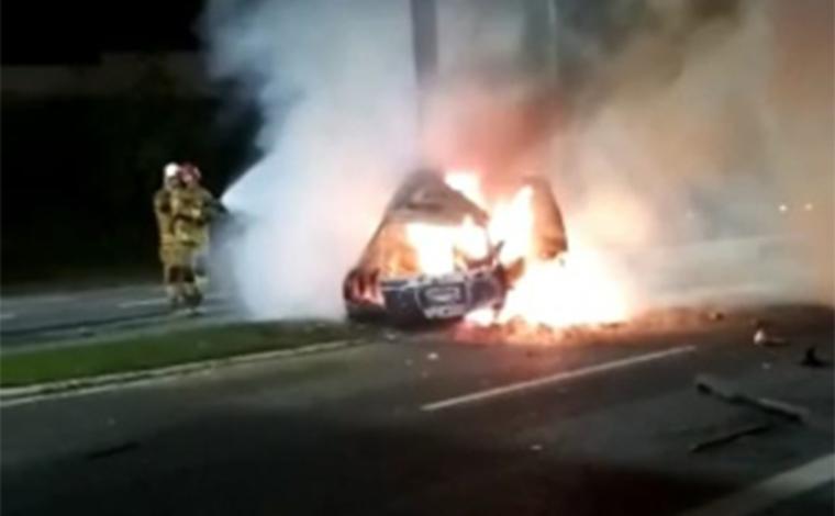 Avô e neta morrem após carro ser atingido por motorista embriagado em BH
