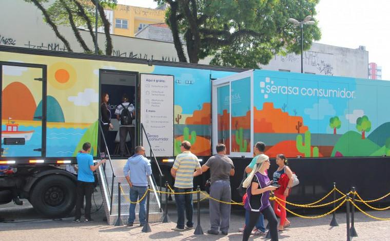 Caminhão Itinerante da Serasa chega em Sete Lagoas e oferece diversos serviços à população
