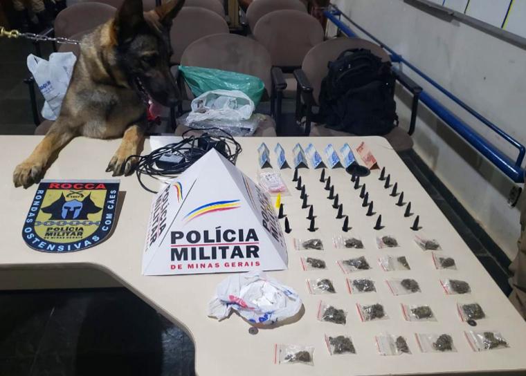 PM prende duas pessoas e apreende grande quantidade de drogas em Pedro Leopoldo