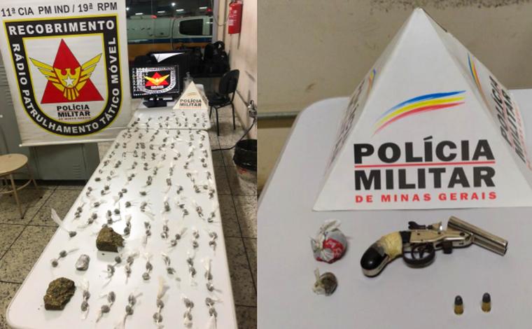 PM prende autores de tráfico, apreende arma de fogo e grande quantidade de drogas em Pedro Leopoldo