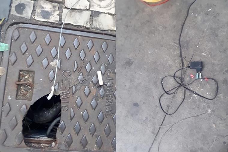 Homens são presos por fazer 'gato' no centro de BH para recarregar tornozeleira eletrônica