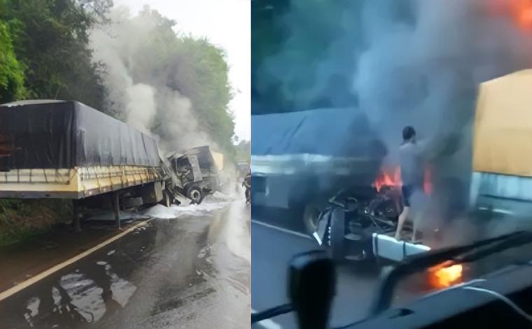 Homem morre após bater veículo na traseira de carreta que era conduzida pelo pai na BR-467