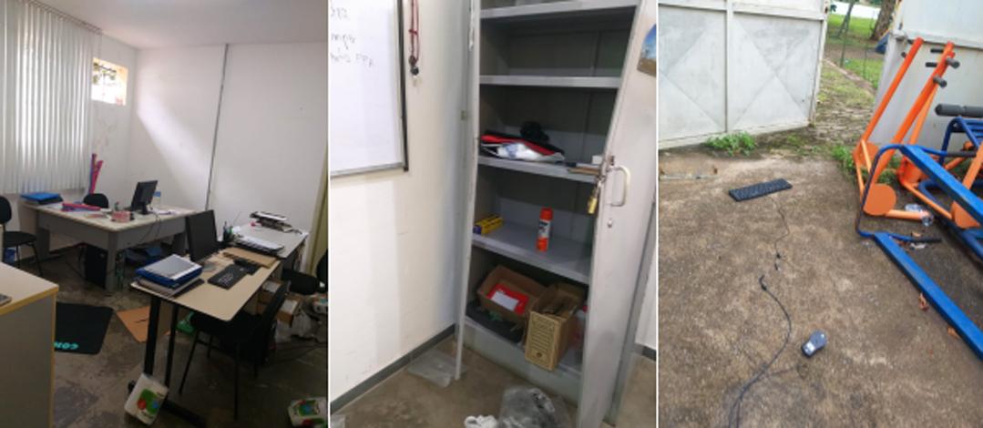 Secretaria Adjunta de Esportes de Sete Lagoas é invadida e tem equipamentos furtados