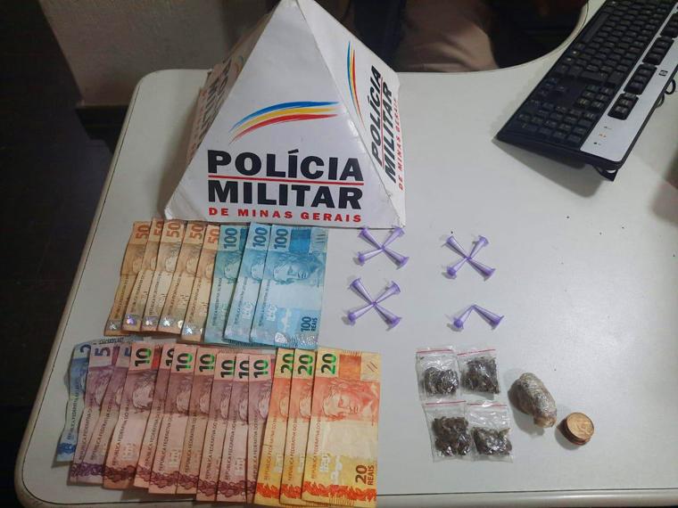 Suspeito de tráfico de drogas é preso pela Polícia Militar em Matozinhos