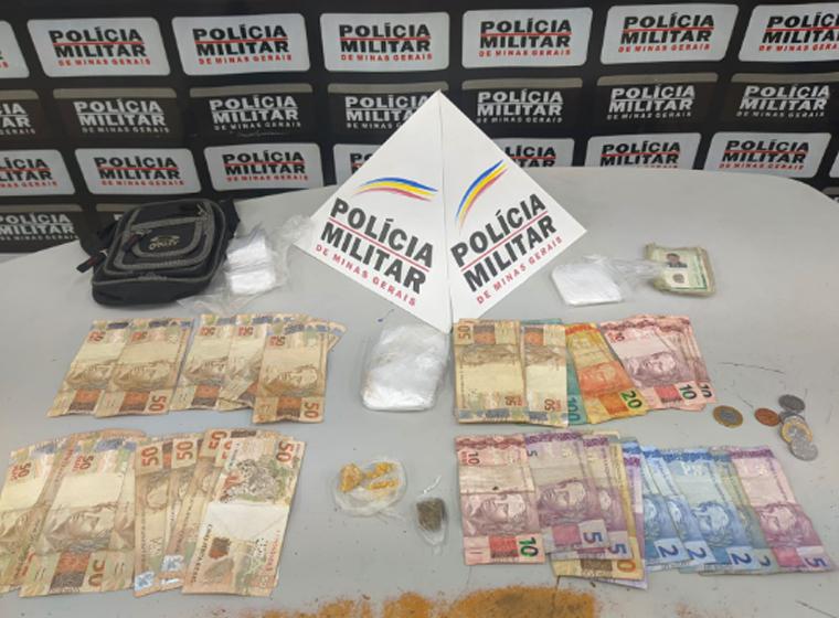 Adolescente de 16 anos é apreendido com drogas e dinheiro no bairro São João em Sete Lagoas
