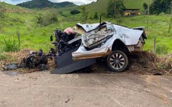 Homem tenta matar amante de esposa, foge em alta velocidade e morre na BR-116
