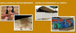 PMSL emite nota de esclarecimento sobre grafite apagado no muro da escola Arthur Bernardes