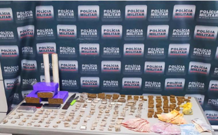 PM apreende grande quantidade de droga no bairro São Vicente; três pessoas são presas