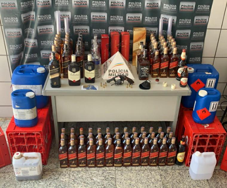 Homem suspeito de falsificar e comercializar bebidas alcoólicas é preso em Sete Lagoas