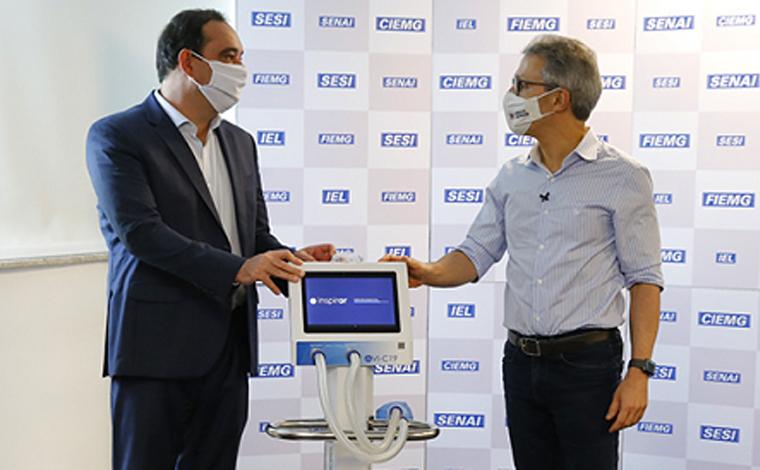 Covid-19: Governo de Minas anuncia abertura de 100 leitos de UTIs após receber respiradores da Fiemg
