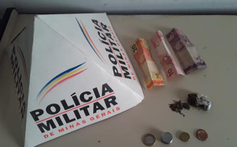 PM prende jovem por tráfico de drogas em Araçaí; autor possui diversas passagens pela polícia