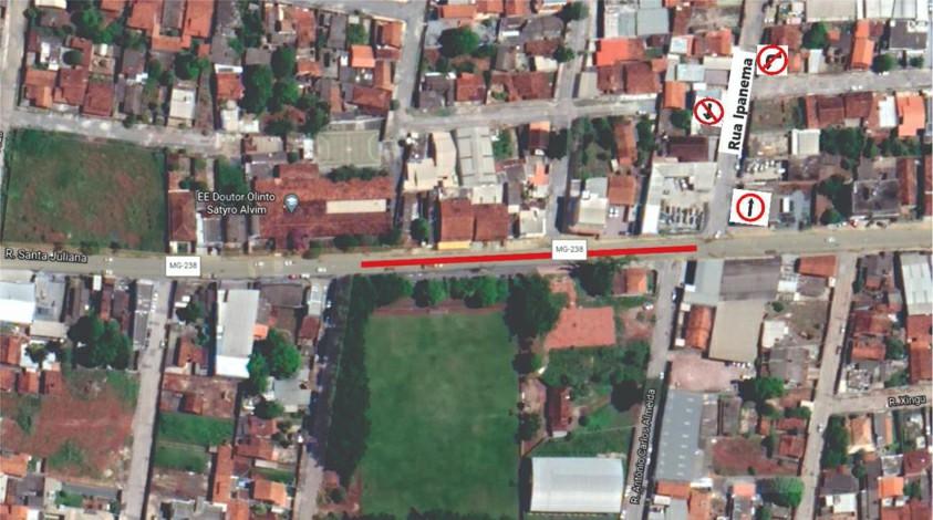 Trecho da rua Santa Juliana em Sete Lagoas será interditado para realização de obras de drenagem