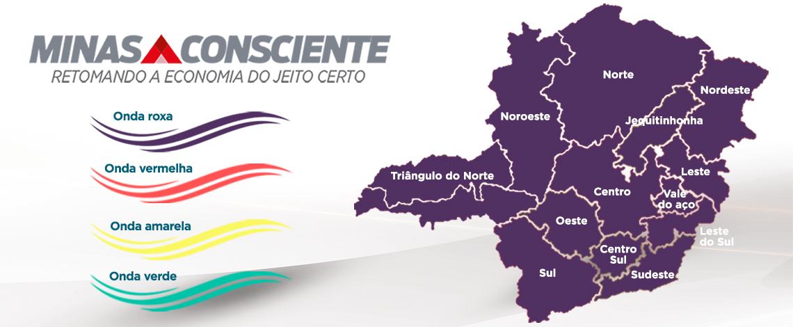 Minas Consciente: Governo decide prorrogar onda roxa até dia 4 de abril