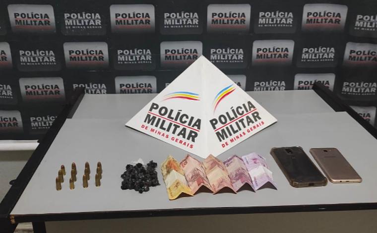 PM recupera carro roubado, prende suspeitos, apreende drogas e munições em Sete Lagoas