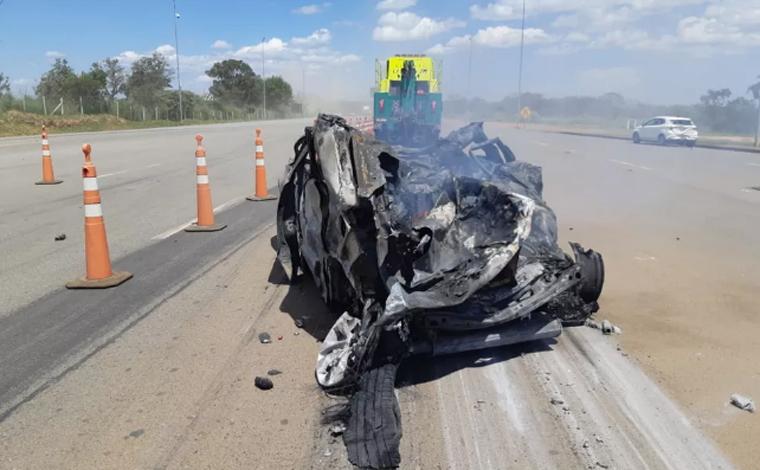 Família de Minas Gerais morre em grave acidente em praça de pedágio na BR-050