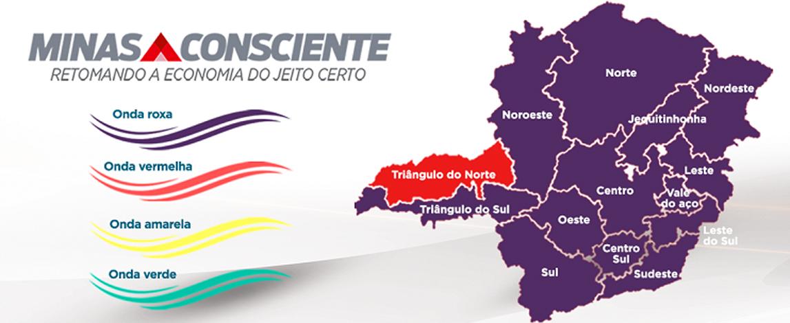 Minas Consciente: 13 das 14 macrorregiões do estado permanecem na 'onda roxa' até 11 de abril
