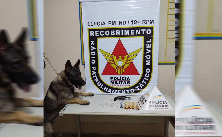 Polícia Militar prende homem por tráfico de drogas e porte ilegal de arma de fogo em Matozinhos