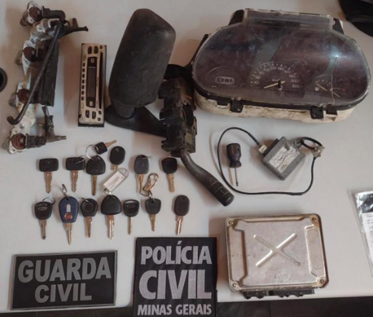 Polícia Civil e Guarda Municipal identificam suspeitos de furtos de veículos em Sete Lagoas
