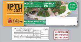 Prefeitura de Sete Lagoas prorroga vencimento do IPTU e outros tributos municipais pelo segundo ano