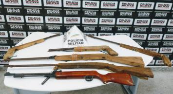 Homem é preso com seis armas de fabricação caseira no povoado de Mucambo no município de Baldim