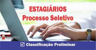 Classificação preliminar do Processo de Seleção de Estagiários é divulgada em Sete Lagoas