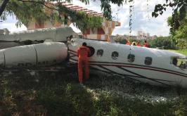 Avião de pequeno porte cai no Aeroporto da Pampulha