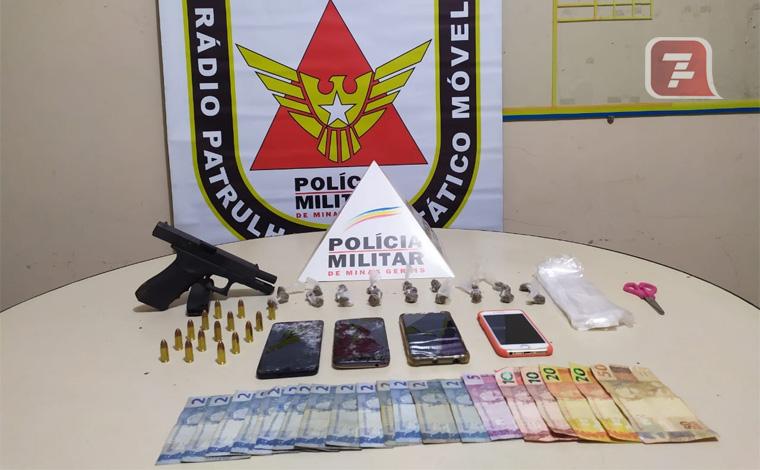 PM prende seis pessoas por tráfico de drogas, porte ilegal de arma e suspeita de homicídio