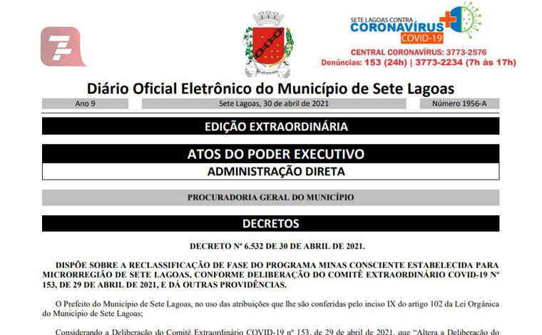 Novo decreto municipal regulamenta funcionamento da onda vermelha em Sete Lagoas