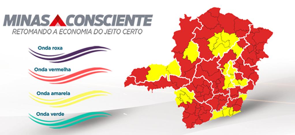 Minas Consciente: macrorregião Norte avança para onda amarela e 14 regiões seguem na fase vermelha