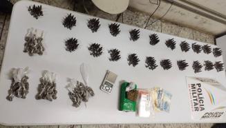 Polícia Militar apreende grande quantidade de drogas em Pedro Leopoldo