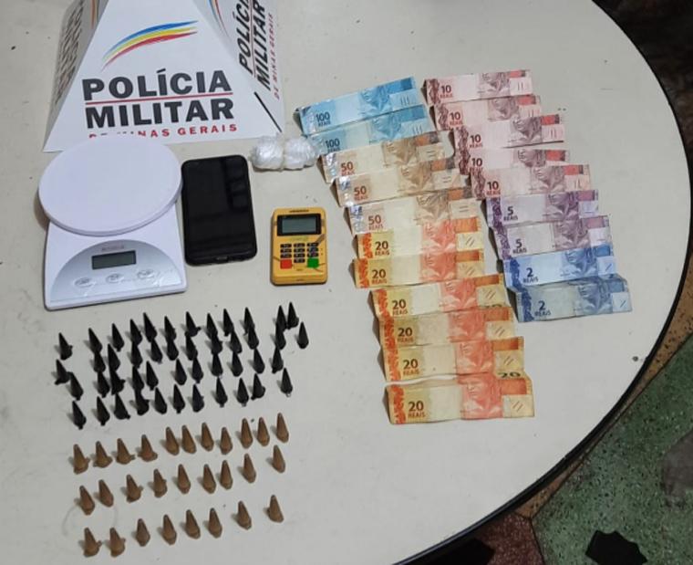 Três pessoas são presas por tráfico de drogas no bairro Bom Jesus em Matozinhos