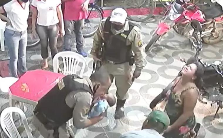 Massagem cardíaca feita por policial militar salva bebê de quatro dias em Teófilo Otoni