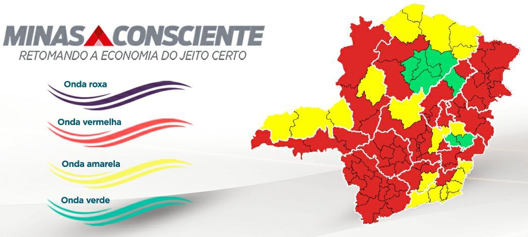 Covid-19: Sete Lagoas permanece na onda vermelha do programa Minas Consciente
