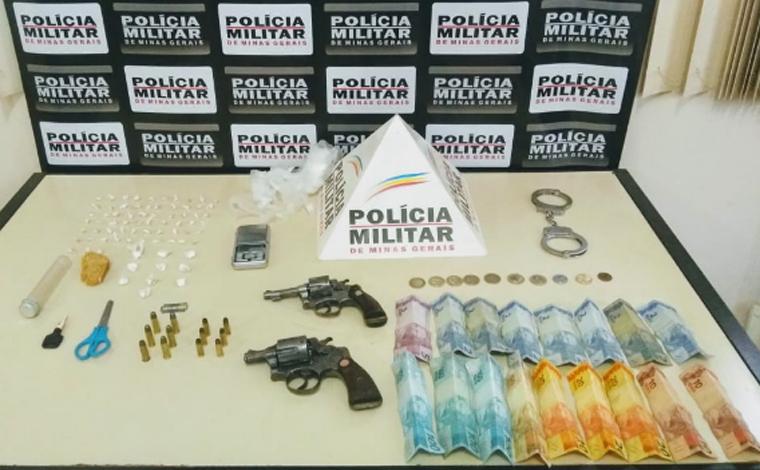PM prende homem com armas de fogo e grande quantidade de drogas em Paraopeba