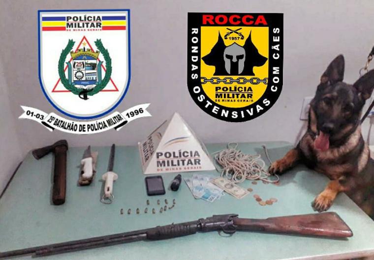 Dois homens são presos suspeitos de furtar gado em uma fazenda na zona rural de Araçaí